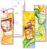 Colorful Cocktails Gift Tag Bookmarks